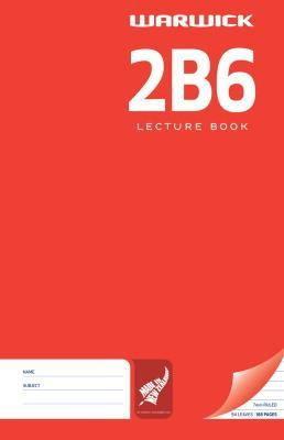 Warwick 2B6 94lf 7mm Ruled Lecture Book