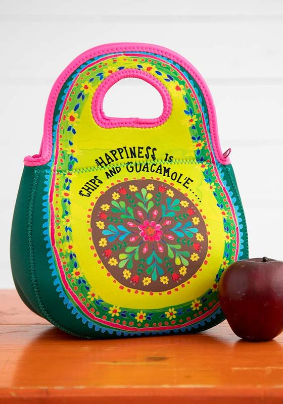 Natural Life: Neoprene Lunch Bag - Happiness Is Chips