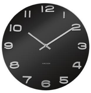 Karlsson Vintage Glass Wall Clock - Black