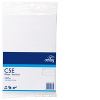 Croxley C5E Non-Window Seal-Easi White Envelope - Pkt 25