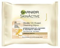 Garnier Micellar Oil-Infused Cleansing Wipes (Pack of 25 Wipes)