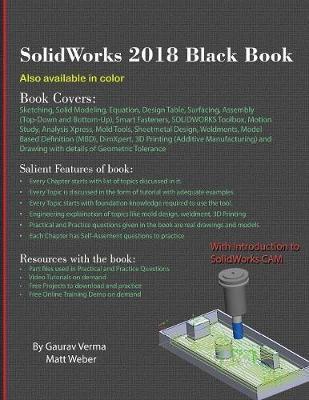 SolidWorks 2018 Black Book | Gaurav Verma Book | In-Stock