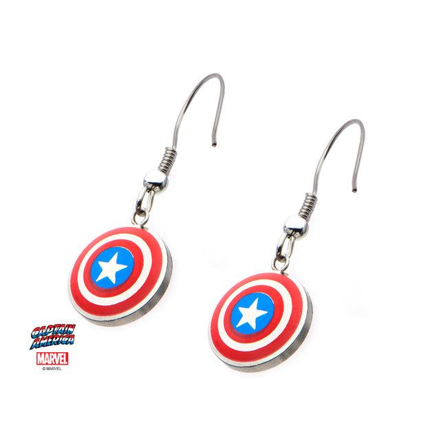 Marvel Captain America Shield Earrings