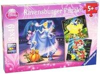 Ravensburger : Disney Cinderella & Ariel Puz 3x49pc