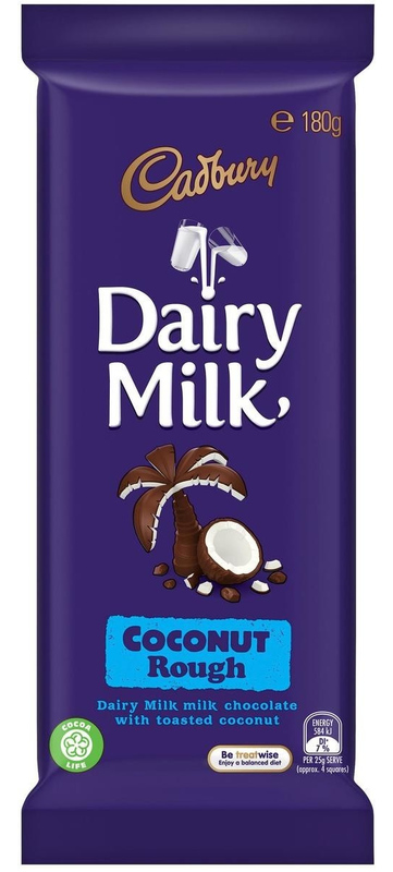 Cadbury: Dairy Milk - Coconut Rough (180g)