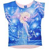 Disney Frozen Pink Elsa T-Shirt (Size 7)