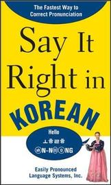 Say It Right in Korean by EPLS
