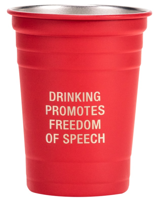 Say What: Metal Cup - Freedom Of Speech (Red)