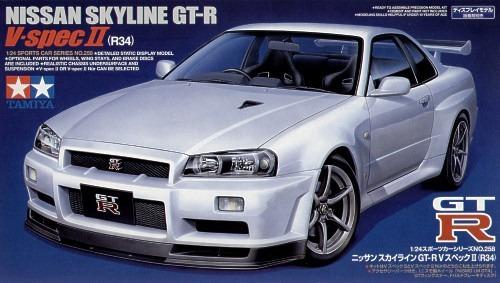 Tamiya Nissan R34 Skyline GT-R V-Spec II 1/24 Kitset Model