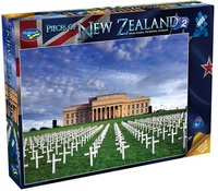 Holdson: 1000pce Puzzle - Pieces of New Zealand Anzac Crosses, The Domain, Auckland