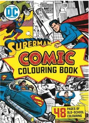 Dc Comics Superman Vintage Comic Colouring Book In Stock Buy