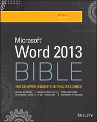 Word 2013 Bible by Lisa A Bucki image