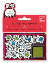 Djeco: Small Stamp Set - Emoticones