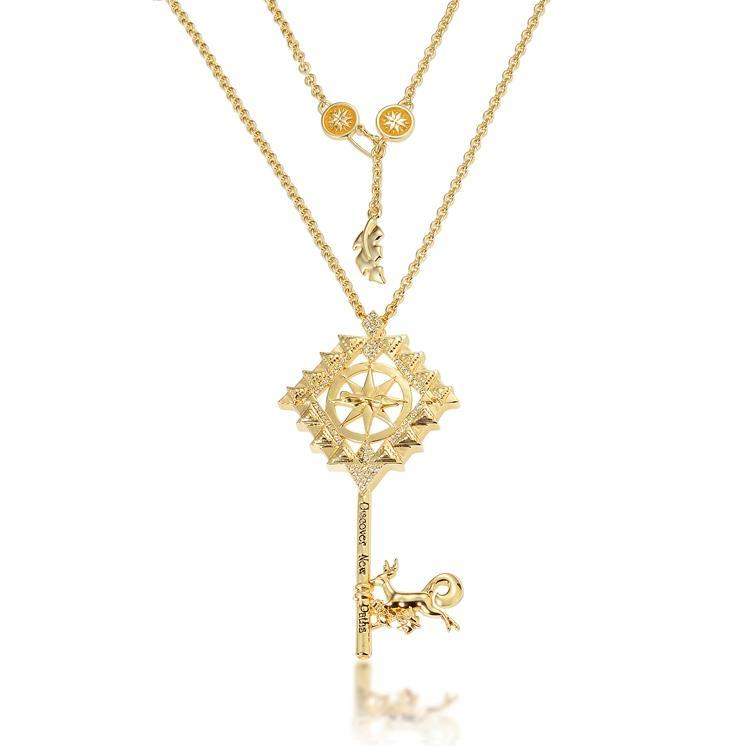 Disney Couture Princess Pocahontas Necklace - Gold image