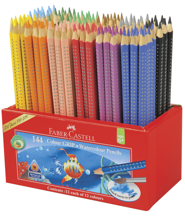 Faber-Castell: Watercolour Grip Pencils (Caddie of 144)
