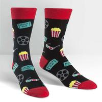 Mens - Movie Night Crew Socks