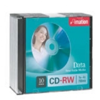 Imation CD-RW 700MB 80MIN 4X  10PK SLIM JEWEL