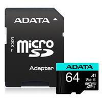 Adata: Premier Pro microSDHC UHS-I U3 A1 V30 Card with Adapter - 64GB