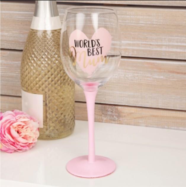 Wine Glass Large: World's Best Mum