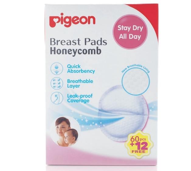 Pigeon: Breast Pads Honeycomb - 60 pc