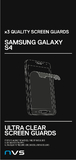 NVS Clear Screen Protector for Galaxy S4 (3 Pack)