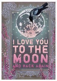 Papaya Love Card - To The Moon