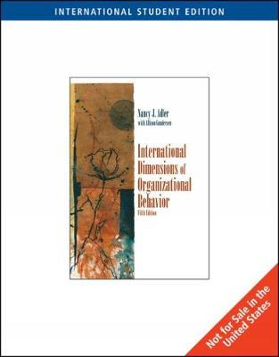 International Dimensions of Organizational Behavior, International Edition by Nancy J Adler image