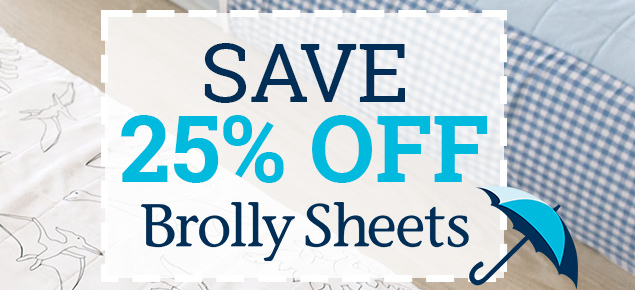 25% off Brolly Sheets