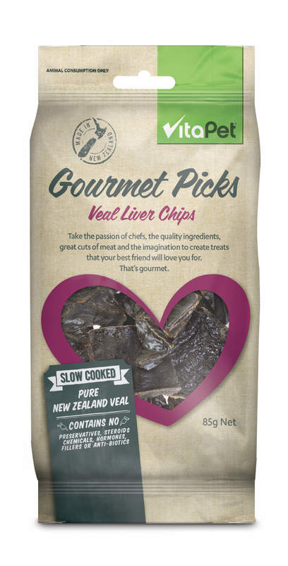 Vitapet: Gourmet Picks Veal Liver Chips (85g)