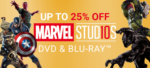 Marvel DVD & Blu-ray Sale! Up to 25% off!