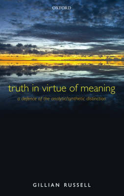 Truth in Virtue of Meaning by Gillian Russell image