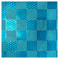 SKINZ Sparklz Printed Glitter Book Cover - Blue Checks
