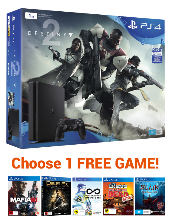 PS4 Slim 1TB Destiny 2 Console Bundle for PS4