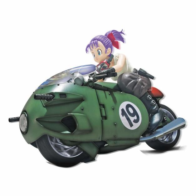 Dragon Ball: Figure-rise Mechanics 19: Bulma with a Transforming Motorbike - Model Kit