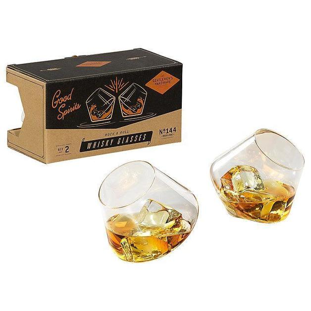Gentlemen's Hardware: Rocking Whisky Glasses (Set of 2)