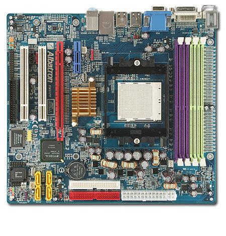 Albatron Motherboard KM51PV A64 VGA+SATA+LAN - S939