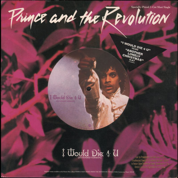 """I Would Die 4 U (12"""" LP) by Prince and the Revolution"""
