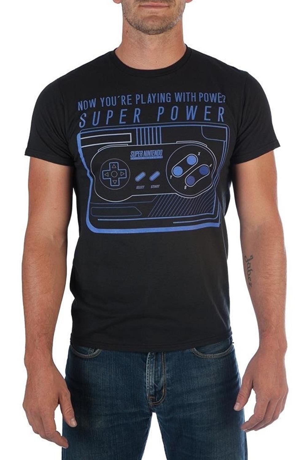 22c002820 Nintendo: SNES Controller Power - T-Shirt (Medium) image ...