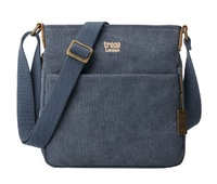 Troop London: Classic Small Zip-Top Shoulder Bag - Blue