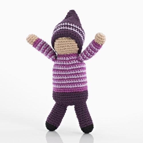 Pebble: Crochet Pixie Rattle - Violet