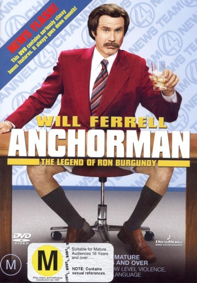 Anchorman - The Legend Of Ron Burgundy on DVD