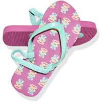 Paul Frank Pink Printed Jandals (Size 9)