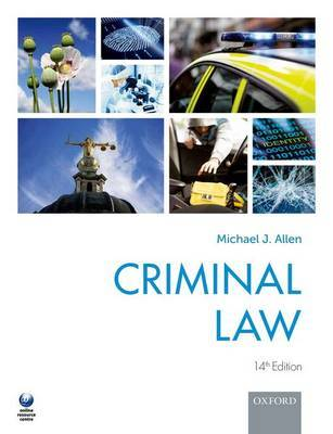 Criminal Law by Michael J. Allen image
