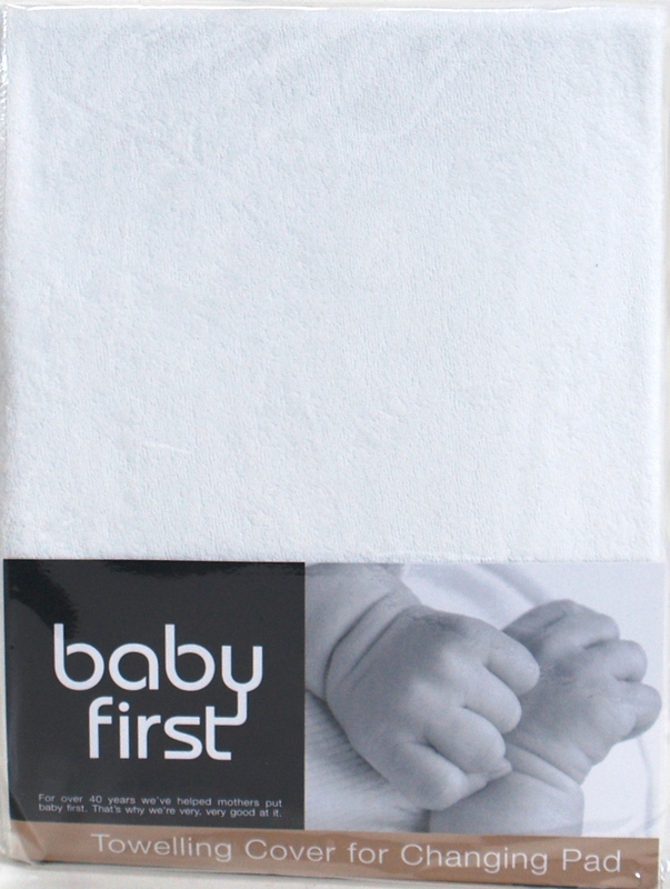 Baby First: Change Pad Towel Cover - White