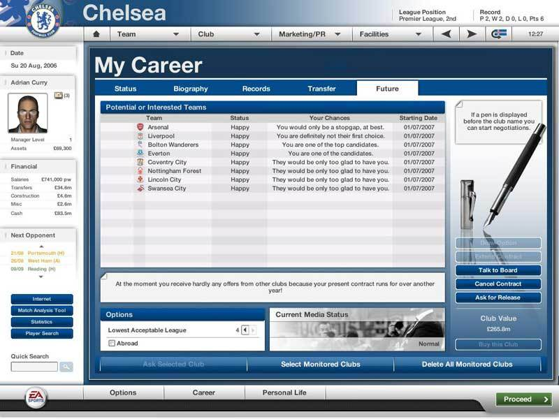 Total Club Fifa Manager 2007 for PC Games image