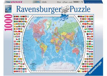Ravenburger - Political World Map Puzzle (1000pc)