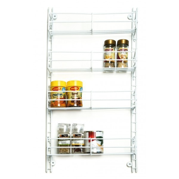 L.T. Williams - 4 Tier Adjustable Chrome Spice Rack