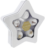 Organik Botanik Star Tin Bath Bomb Set (6 Piece)