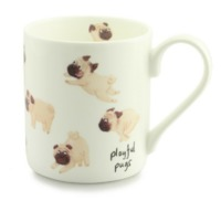 McLaggan Smith: Playful Pugs - Coffee Mug