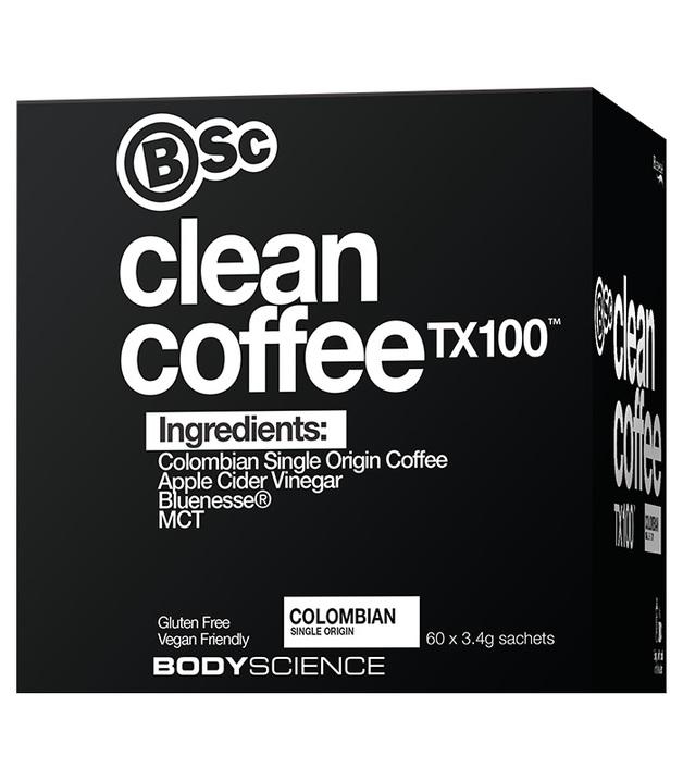 BSC Clean Coffee TX100 - MCT, Apple Cider Vinegar & Bluenesse (60x3.4g)